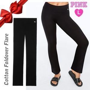 VS PINK Black Waist yoga Pants L